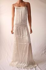 Haute Hippie White Spaghetti Straps Long Cocktail Dress Sz S