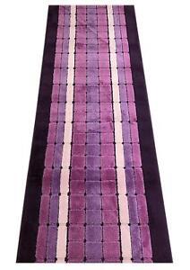 Custom-Size-Squares-Purple-indoor-Runner-Rug-Soft-Non-Skid-Slip-Resistant-26-W
