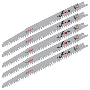 5-Bosch-S1531L-Reciprocating-Sabre-Saw-Blades-WOOD-Cutting-Pruning-10-034-240mm