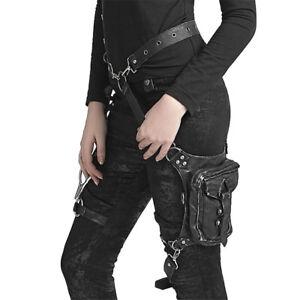 BGDRR Femmes Steampunk Ceinture Leg Sacs Hommes Holster Sac Moto Cuisse Hanche Ceinture Packs Messenger Sacs /À Bandouli/ère