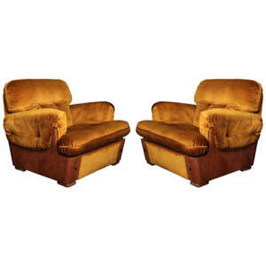 Pair Of Armchairs 1965 Italy Ebay