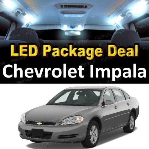 For 2000-2004 2005 Chevrolet Impala LED Lights Interior Package Kit WHITE 9PCS