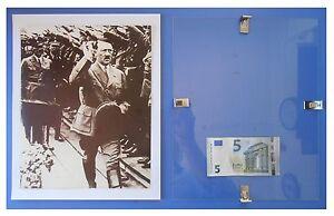HITLER-saluto-nazista-Germania-Nazismo-Fascismo-quadro-cornice-vetro-cm-30x24
