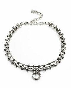 DANNIJO-Vixie-Choker-With-Crystal-Circle-Pendant-NEW-with-tags