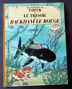 TINTIN-HERGE-LE-TRESOR-DE-RACKHAM-LE-ROUGE-B26-1958-CASTERMAN-TRES-BON-ETAT