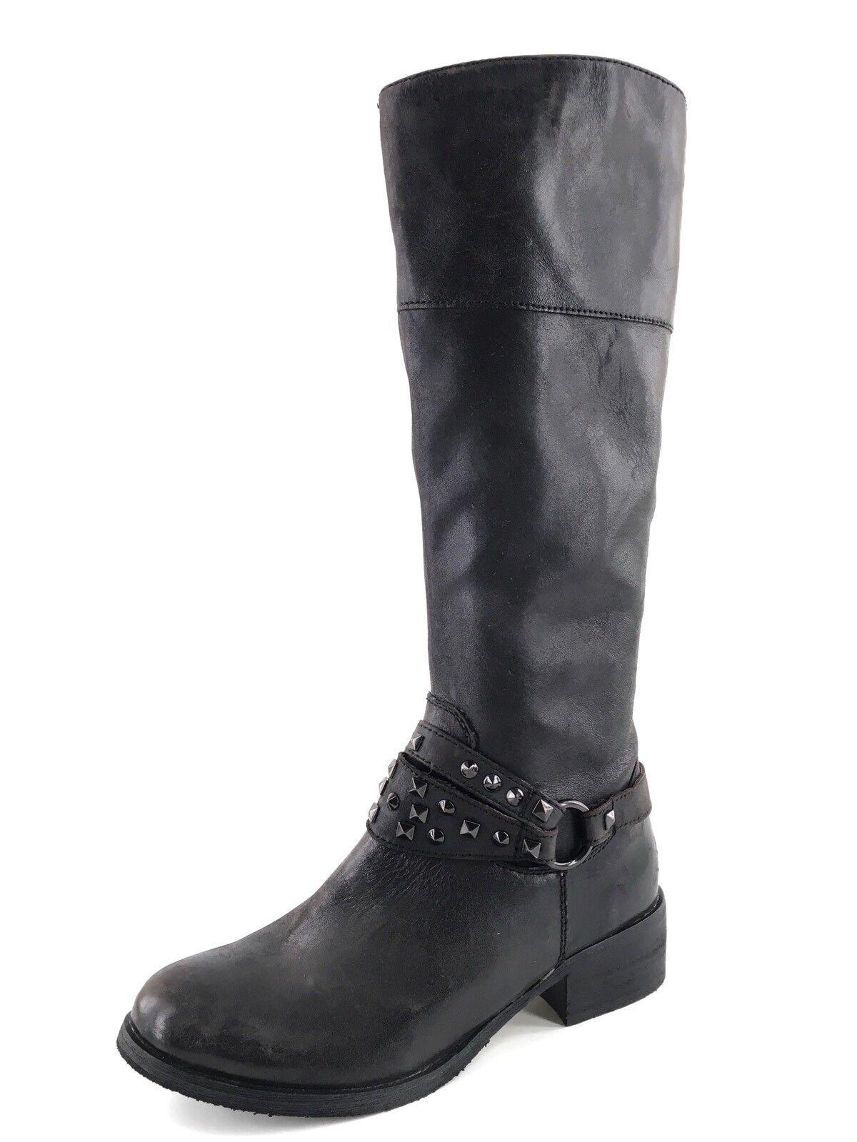 i nuovi marchi outlet online BP Bella nero Leather Knee High Studded Studded Studded Harness Riding stivali Donna  Dimensione 5 M   migliore qualità
