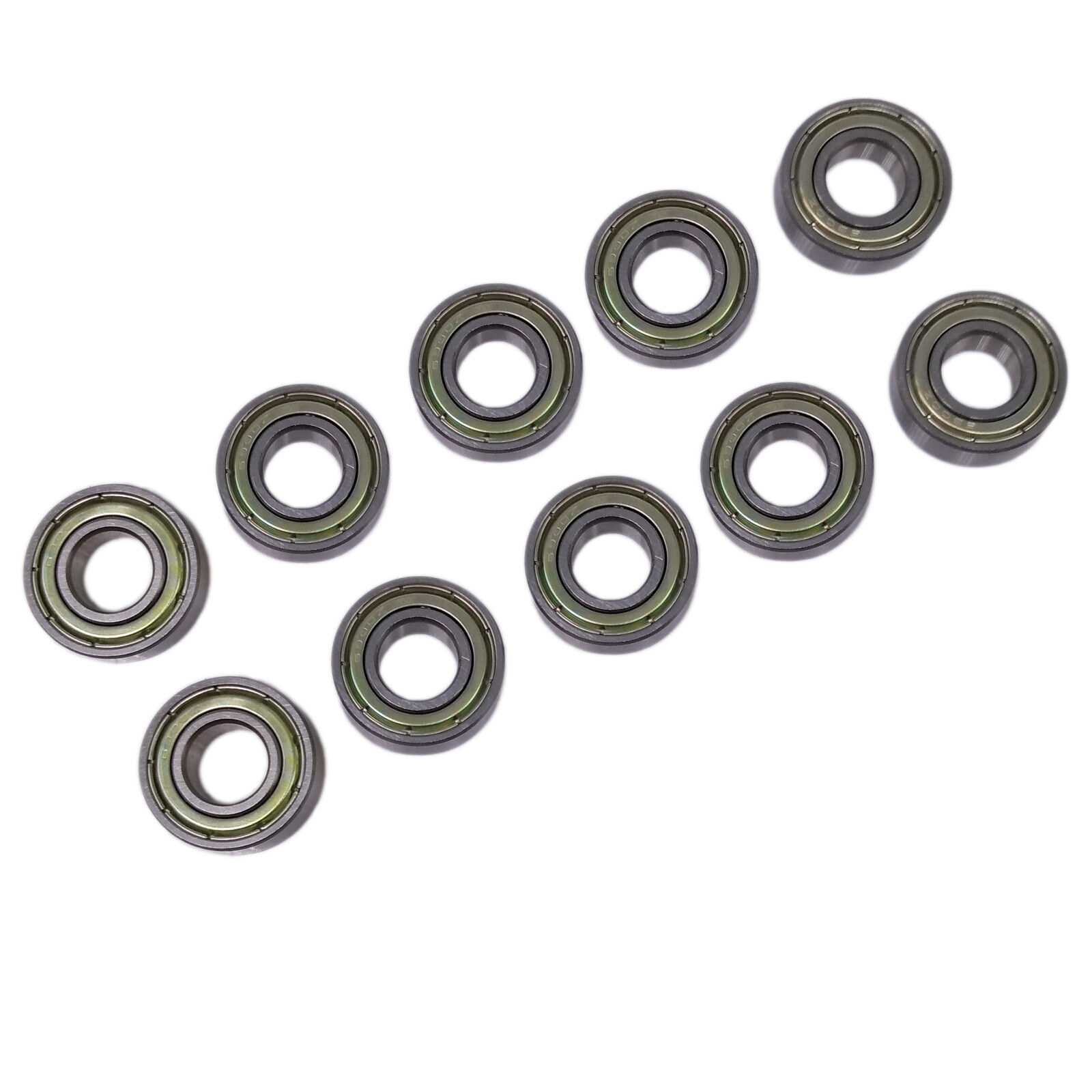 10pcs Shielded Model Flange Bearing 12 x 21 x 5mm F6801zz