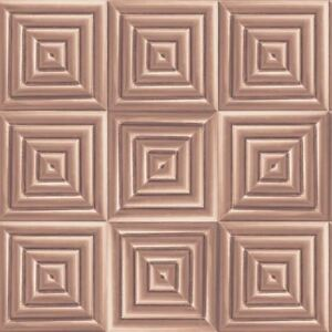 Image Is Loading Metallic Square Geometric D Wallpaper Copper Rose Gold