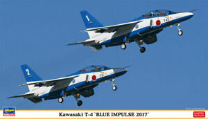 Kawasaki T4 Blue Impulse 2017 2 Kit Kit En Plastique 1:72 Modèle Hasegawa