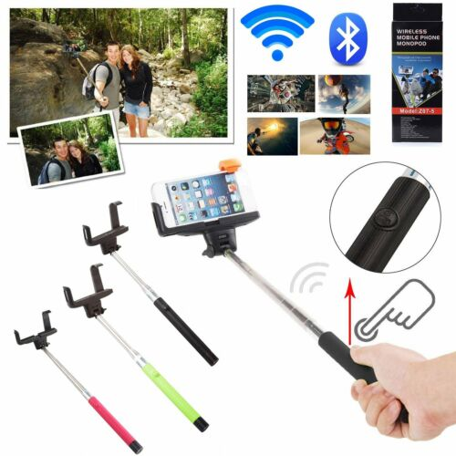 Wireless Bluetooth Self Portrait Selfie Stick Monopod for Iphone Android Camera