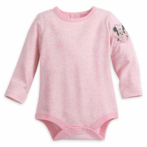 Disney Store Minnie Mouse Jumper Baby Dress Set Fluffy Faux Fur Pink Bodysuit