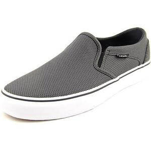 f8021053e0d VANS Asher Perforated Leather Women s Slip on SNEAKERS Black Size 10 ...