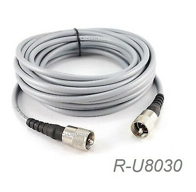 Male to Male Antenna Cable CablesOnline R-U040 40ft RG8x Coax UHF PL259