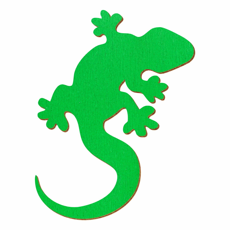 Grüner Holz Gecko - Deko Zuschnitte Größenauswahl