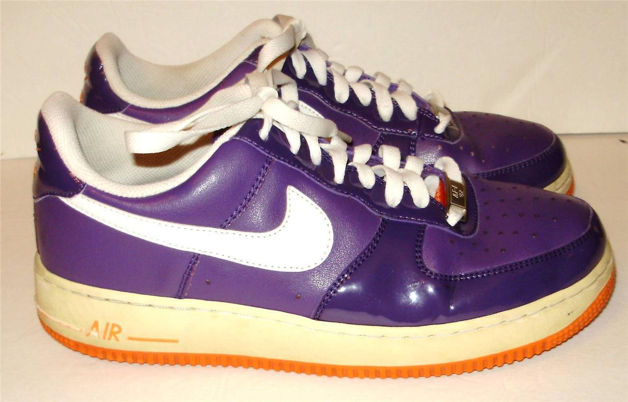 Nike Womens Sneakers Size 9.5  Vintage Orange Low Tops Leather Purple Orange Vintage AF1 82 A39 d0c0e9