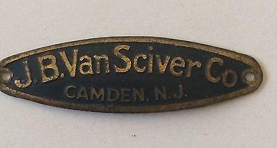 brass and metal furniture. JB Van Sciver Co Brass Metal Furniture Name Plate Tag Vintage Antique Camden NJ And