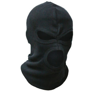 3-Hole-Cotton-Tactical-Military-Army-Biker-Thin-Lightweight-Balaclava-Hat-Black