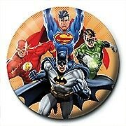 DC Comics Justice League Burst Official 25mm Button Pin Badge Batman Superman