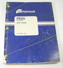 Fiat Allis Fr20 Wheel Loader Parts Manual Book Catalog Fiat Allis Sn 80c001 Oem