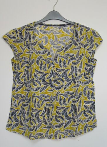 Size 8-18 White Stuff Camelia Yellow Printed summer Holiday Top