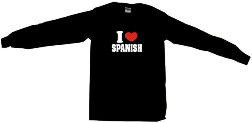 I Heart Love Spanish Mens Tee Shirt Pick Size Color Small 6XL S//S L//S or Tank