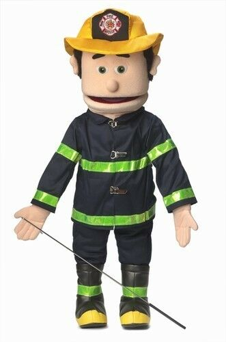 Silly Puppets Fireman (Caucasian) 25 inch Full Body Puppet