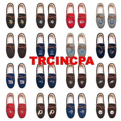 Sports Mem, Cards & Fan Shop Fan Apparel & Souvenirs Forever Collectibles-nfl Team Color-men's Moccasin Slippers-pick Your Team-free High Standard In Quality And Hygiene
