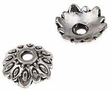 40 Perlenkappen 9mm Tibet Silber Versilbert Perlkappen Spacer Nickelfrei M523
