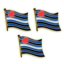 """LOT OF 3 LEATHER PRIDE FLAG LAPEL PIN 0.5"""" Hat Tie Tack Badge LGBT Gay BDSM NEW"""