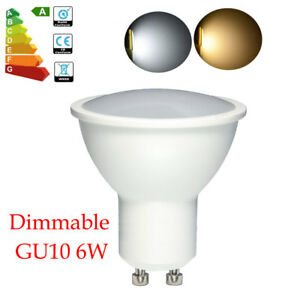 Brillant-Dimmable-GU10-Ampoule-LED-6W-Lampe-Blanc-Froid-chaud-55W-Halogene