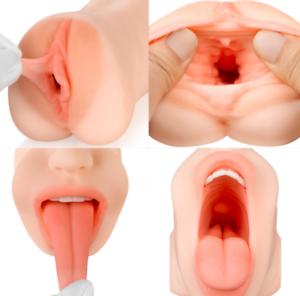 Double-Realistic-vagina-and-blow-job-masturbator-sex-toys-for-men-male-UK-Fast