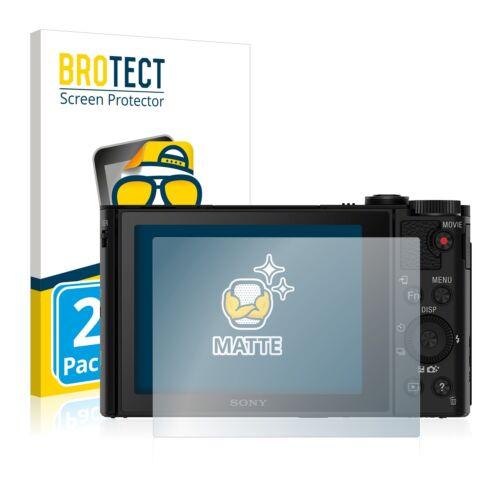 2x protector de pantalla mate Sony Cyber-shot dsc-wx500 lámina protectora