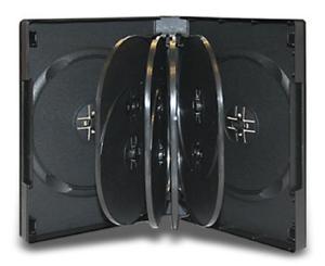 """1 1//2/"""" 39mm 1 Brand New Premium Black Multi Twelve 12 Discs DVD//PC Media Case"""