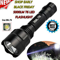 5000lm C8 CREE XML T6 LED 18650 Zoom Tactical Flashlight 5 Mode Torch Light Lamp