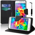 Housse Etui Portefeuille Silicone Effet Tissu Samsung Galaxy Grand Prime G530F