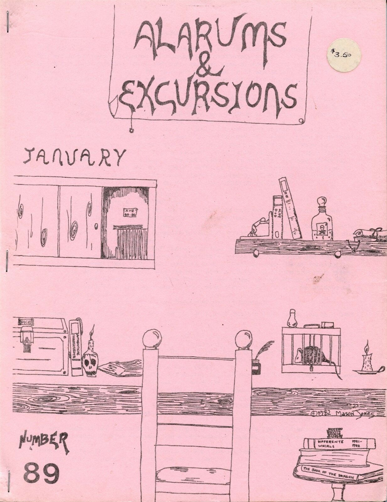 ALARUMS & EXCURSIONS JANUARY EXC  Dungeons & Dragons RPG MAGAZINE