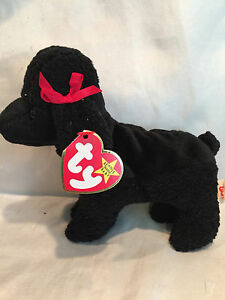 Collectible 1997 1998 Ty Beanie Baby Gigi Dog Rare Gasport Error ... b28b18bb87a