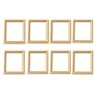 8-Pieces-Golden-1-12-Miniature-Wall-Painting-Frame-Dollhouse-Micro-Landscape