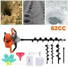 62cc Gas Powered Post Hole Digger With 3 5 8 Earth Auger Digging Engine