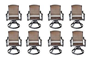 Wicker-Swivel-Chairs-Cast-Aluminum-Dining-Outdoor-Patio-Furniture-Set-of-8
