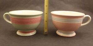 2 Rc Real Seramica Hand Painted Tea Cups Portugal Coffee Mug Cup Ebay