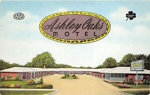 Valdosta-Georgia-1950s-Postcard-Ashley-Oaks-Motel