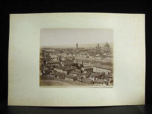 Fotografia-tirage-albumine-Vue-de-Firenze-Monte-alle-Croci-c1880-photographie