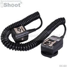Blitz Kabel E-TTL 2-Schuh Sync Cord fr Canon Kamera & 580EX 430EX II 220EX 380EX