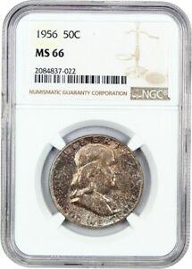 1956-50c-NGC-MS66-Franklin-Half-Dollar