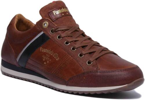 Pantofola d'Oro Matera Uomo Men Leather Tortoise Shell Brown Trainers UK Size 6