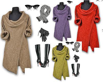 Strickjacke, Tunika, Poncho, Longjacke, Pullover, Farbwahl  M-XL NEU mit Wolle