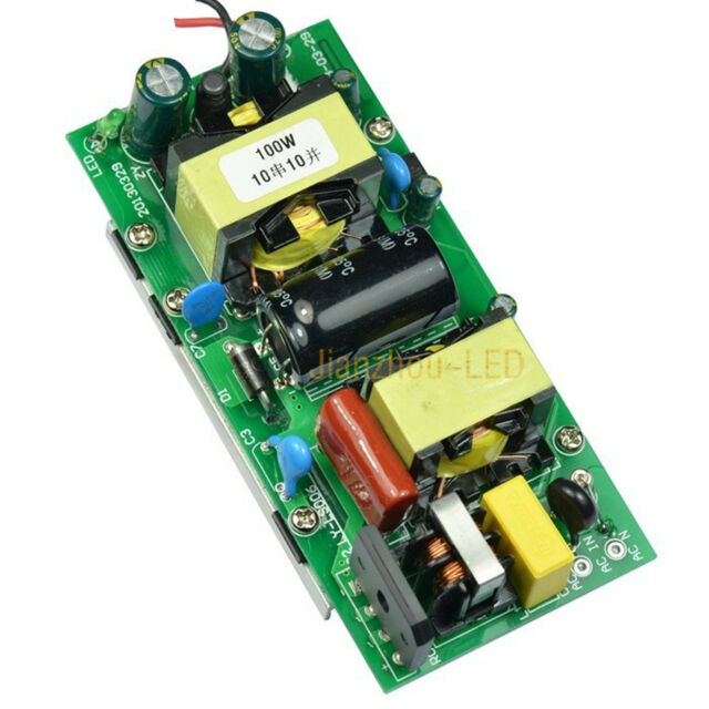 100W LED Lamp Light Transformer Driver with Heatsink Power Supply Input 85-265V