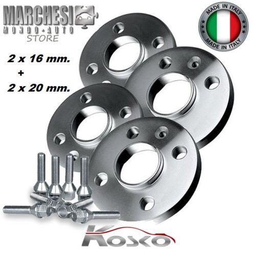 ALFA ROMEO GT 2003-/>2010 CON BULLONI KIT 4 DISTANZIALI RUOTE 16+20 mm