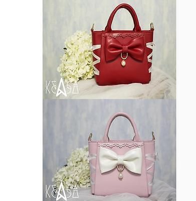 f6694231f15f Lolita Princess Gothic Bow Cute Sweet Harajuku Gothic Handbag Messenger Bag